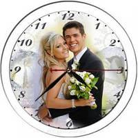 Часы с фото круглые стеклянные, фото 1