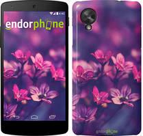 "Чехол на LG Nexus 5 Пурпурные цветы ""2719c-57"""