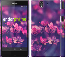 "Чехол на Sony Xperia Z C6602 Пурпурные цветы ""2719c-40"""