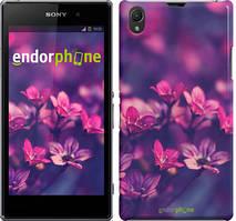 "Чехол на Sony Xperia Z1 C6902 Пурпурные цветы ""2719c-38"""