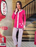 Пижама турецкая для пышной леди на пуговицах