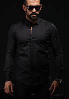 Мужская рубашка черного цвета, фото 1