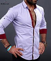 Модная мужская рубашка белого цвета