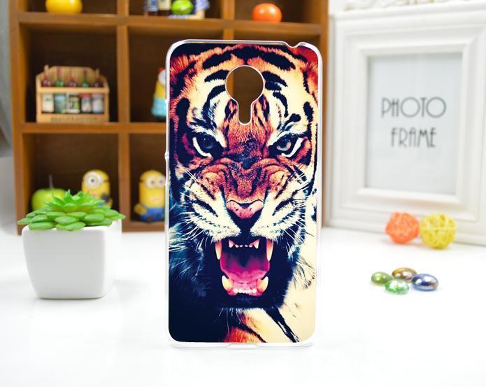 Силиконовый чехол для Meizu M3 Max с картинкой Тигр