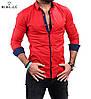 Стильная мужская рубашка красного цвета