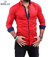 Стильная мужская рубашка красного цвета, фото 1