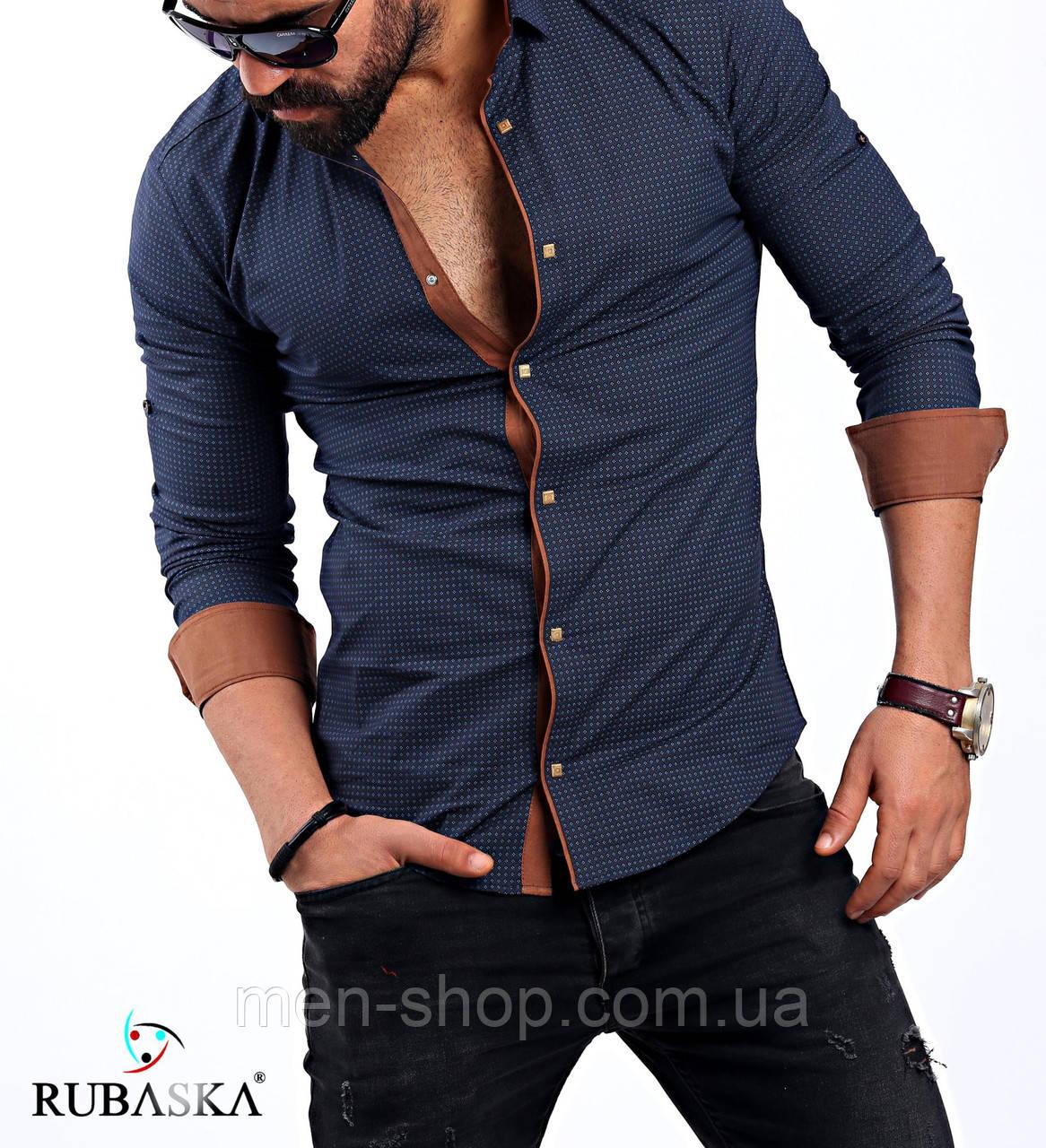 5918e58f49052e0 Молодежная мужская рубашка синего цвета: продажа, цена в Харькове ...