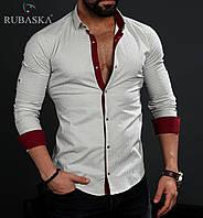 Качестенная мужская рубашка белого цвета
