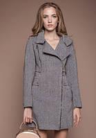 """Женское демисезонное пальто """" Москино твид"""" на змейке с капюшоном"""