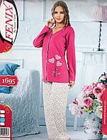 Пижама для пышной леди на пуговицах интерлок