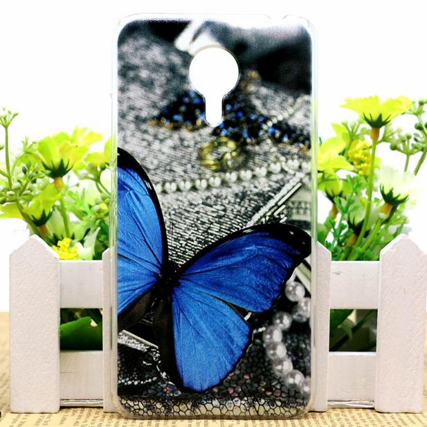 Эксклюзивный чехол бампер для Meizu M3 Max с рисунком Бабочка на жемчуге