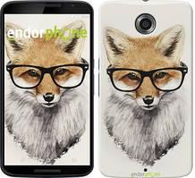 """Чехол на Motorola Nexus 6 Лис в очках """"2707c-67"""""""