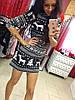 Трикотажное платье с арнаментом., фото 4