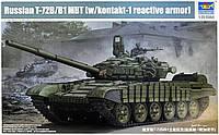 Российский танк  Т-72Б/Б1  1/35