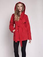 Женское кашемировое пальто Шарм свободного покроя с капюшоном