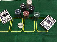 Покерный набор в металлической коробке 120 фишек
