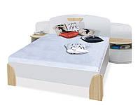 NOTTE Кровать N1 с тумбами FADOME
