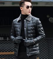 Мужская кожаная куртка Модель 1041