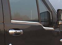Хром молдинг стекла Ford Connect (02-14) (форд коннект) OmsaLine, нерж