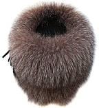 Шапка из меха блюфроста  барбара без полосы голд, фото 3