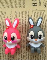 Флешка на подарок 16Gb Милый зайчик розовый