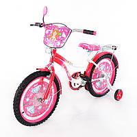 Велосипед детский TILLY Миледи 18 дюймов T-21822 white + crimson, розовый велосипед для девочки