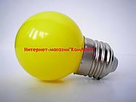 Лампа светодиодная жёлтая 1,2Вт 230В Е27