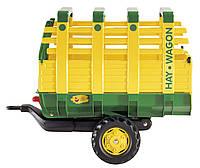 Прицеп 2-х колесный  Hay Wagon Rolly Toys желто-зеленый