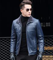 Мужская кожаная куртка Модель 1042