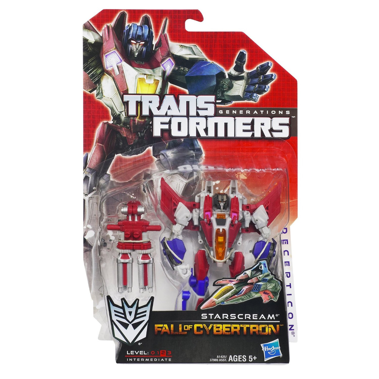 "Десептикон Старскрим из м/ф ""Дженерейшнс"" - Starscream, Deluxe, Generations, Hasbro"