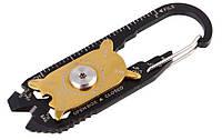 Брелок-карабін 20 в 1 багатофункціональний інструмент SKU0000499, фото 1