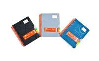 Зошит А4 на спіралі з 5 роздільниками ORANGE, пластик. обкладинка, 200арк, клітинка