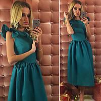 Нарядное платье из габардина, 4 цвета