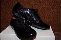 Ботиночки на шнурках женские кожа и замша