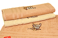 Полотенце махровое для сауны Кадушка 70х140см
