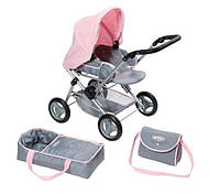 Коляска для куклы Baby Born -делюкс 3 в 1 (складная, с сумкой и съемной люлькой) 821343