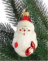 """Стеклянная елочная игрушка """"Дед Мороз"""" 1001"""