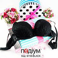 Женский кружевной бюстгальтер с push-up Black