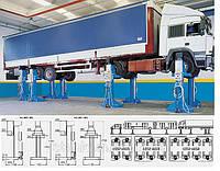 Мобильный подкатной электромеханический подъемник для грузовых авто