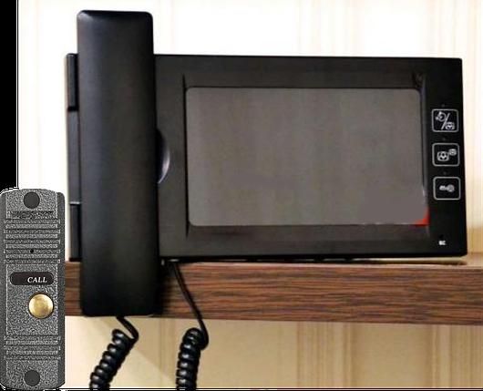 Комплект цветного видеодомофона DigiGuard DG-709P4 TFT LCD, фото 2