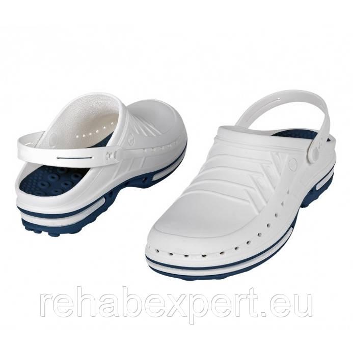 WOCK Clog 03 + Strap Blue White Специализированная обувь, с повышенной устойчивостью.