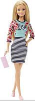 Barbie Барби модница цветочный верх и юбка в полоску Fashionistas Doll Floral Top and Striped Skirt Original