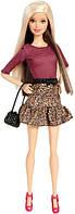 Barbie Барби модница леопардовый принт юбки Fashionista Barbie Doll Leopard Print Skirt