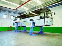 Колонные подкатные подъемники для грузовых автомобилей