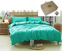 Семейный комплект постельного белья Аквамарин, лен