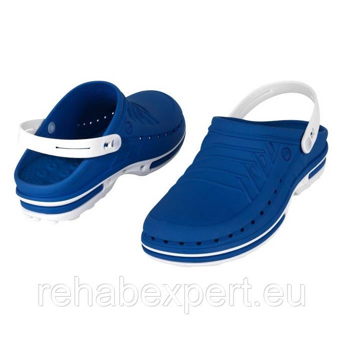 WOCK Clog 03 + Strap White Blue Специализированная обувь, с повышенной устойчивостью.