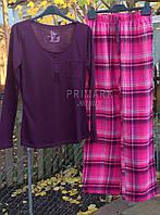 Женская пижама трикотаж + фланель.  Primark Англия