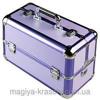 """Профессиональный алюминиевый кейс для косметики """"Exclusive Series"""", фиолетовый"""