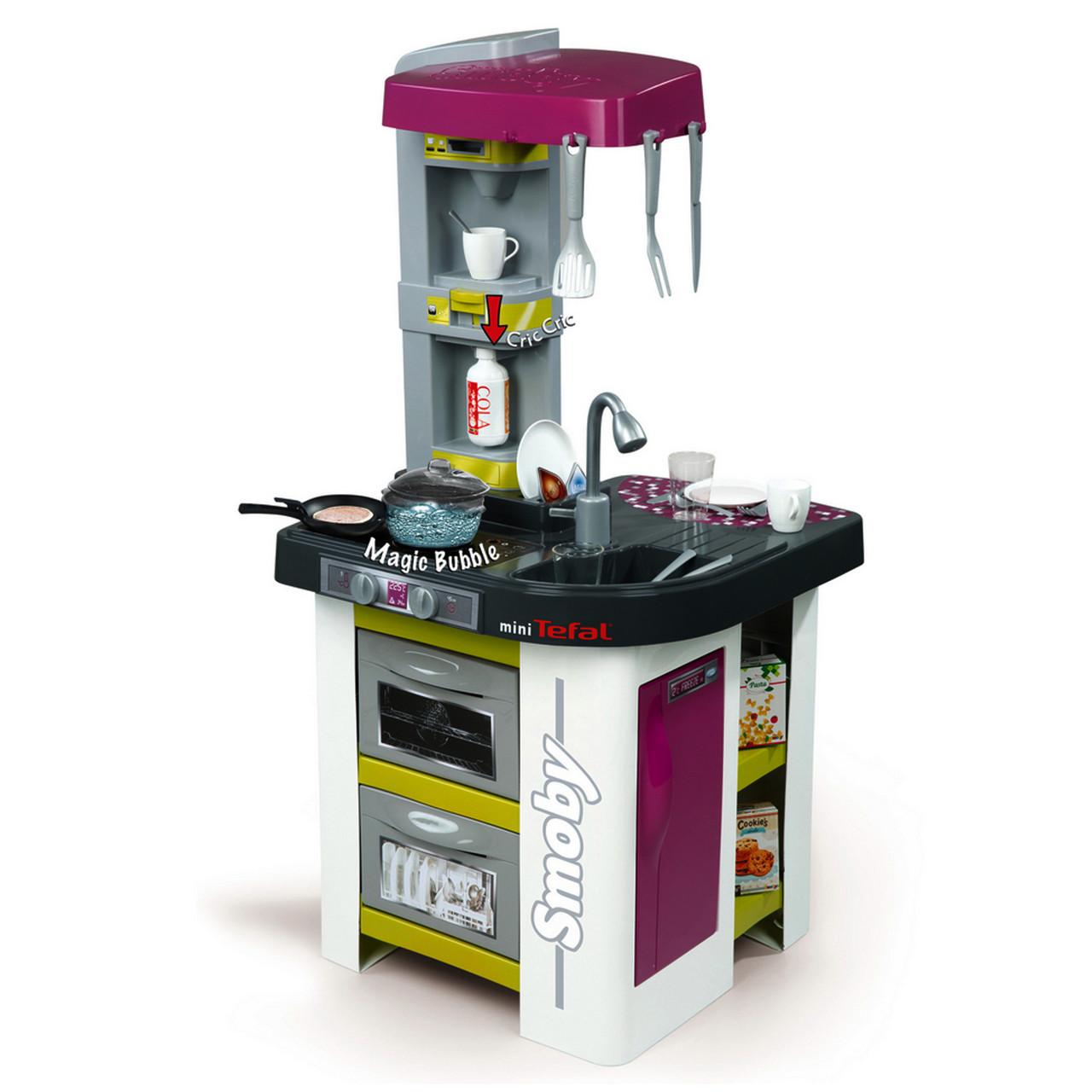 """Игровой набор «Smoby» (311006) интерактивная кухня """"Tefal Studio"""" с эффектом кипения, 22 предмета"""