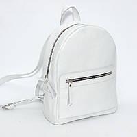 Женский кожаный рюкзак белый флотар